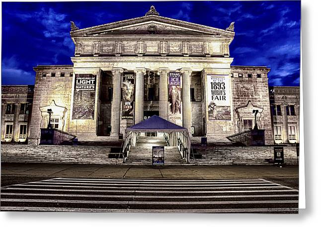 Chicago Field Museum Blue Hour Greeting Card by Michael  Bennett