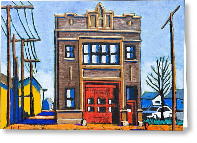 Chicago Fire Station Greeting Card
