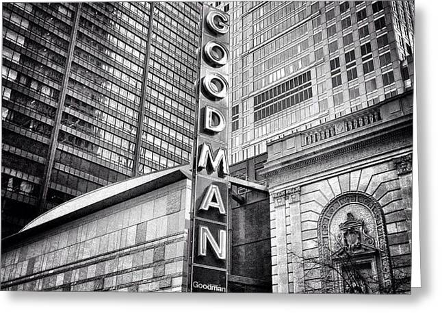 Chicago Goodman Theatre Sign Photo Greeting Card by Paul Velgos