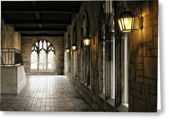 Chicago Halls  Greeting Card by Eugene Bergeron