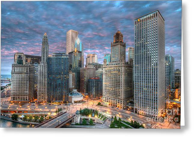 Chicago Hdr Greeting Card by Jeff Lewis