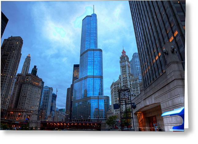 Chicago Heart Of The City Greeting Card