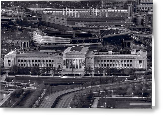 Chicago Icons Bw Greeting Card by Steve Gadomski