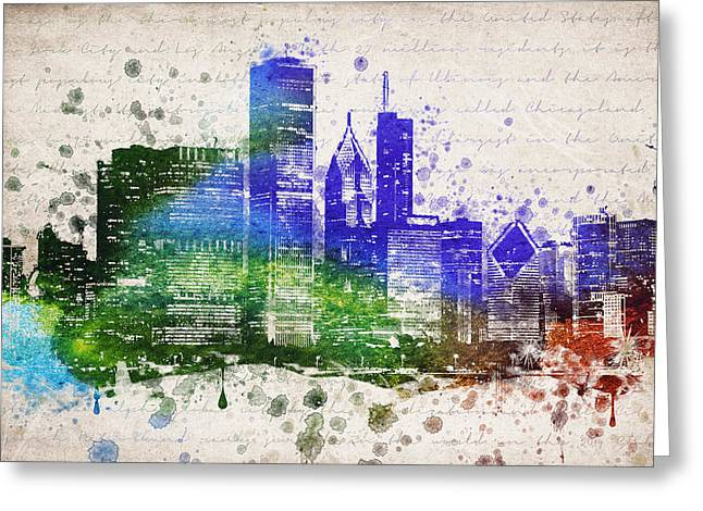 Chicago In Color Greeting Card by Aged Pixel