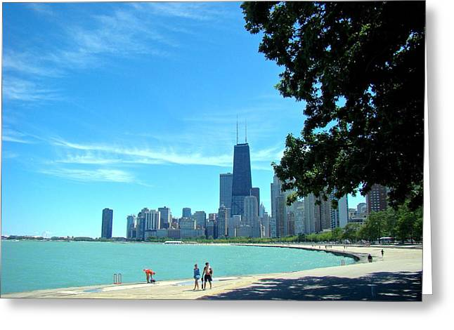 Chicago Lake Front Greeting Card