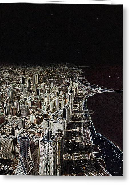 Chicago Lakefront Aglow Greeting Card