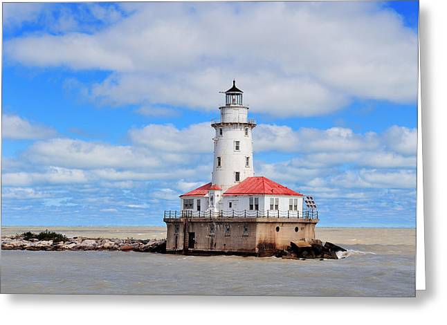 Chicago Light House Greeting Card