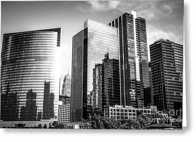 Chicago Loop Black And White Picture Greeting Card by Paul Velgos