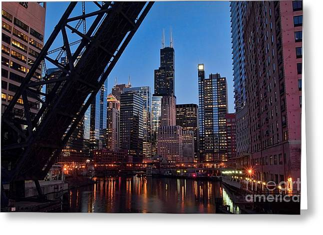 Chicago Loop Greeting Card by Jeff Lewis