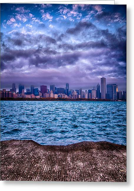 Chicago Lost In The Clouds Greeting Card