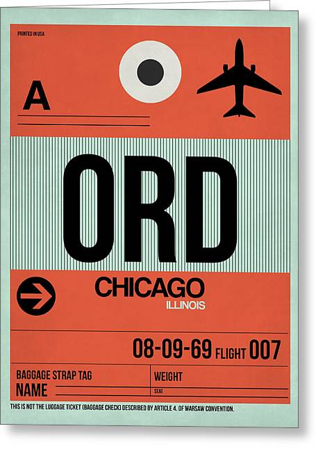 Chicago Luggage Poster 2 Greeting Card