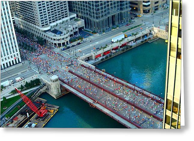 Chicago Marathon 2008 Greeting Card by Kay Gilley