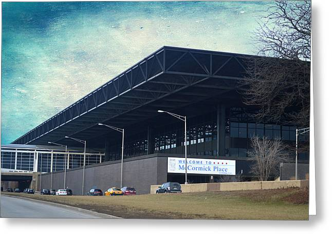 Chicago Mccormick Place Textured Greeting Card