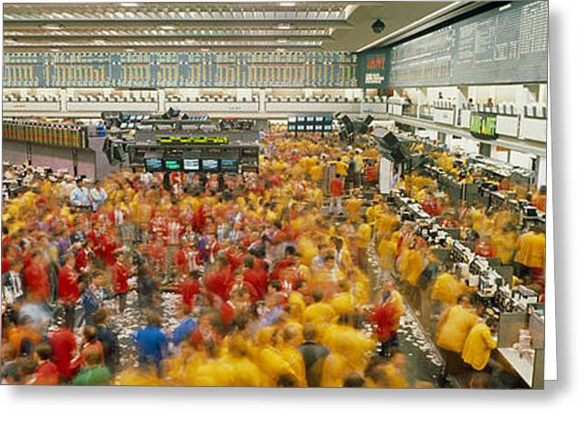 Chicago Mercantile Exchange Chicago Il Greeting Card by Panoramic Images