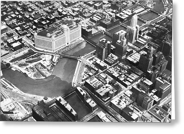 Chicago Merchandise Mart Greeting Card by Underwood Archives