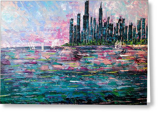 Chicago Morning - Sold Greeting Card