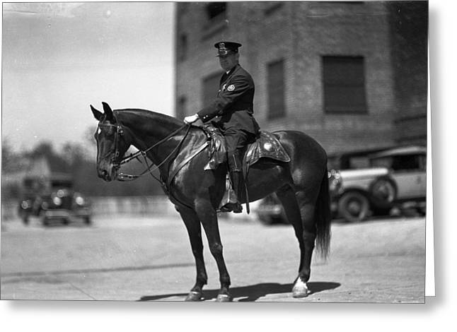 Chicago Mounted Police Greeting Card by Retro Images Archive