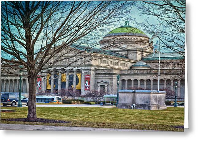 Chicago Msi Hdr Textured  Greeting Card by Thomas Woolworth