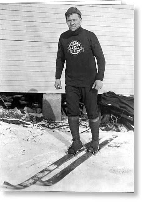 Chicago Norge Ski Club Member Greeting Card by Underwood Archives