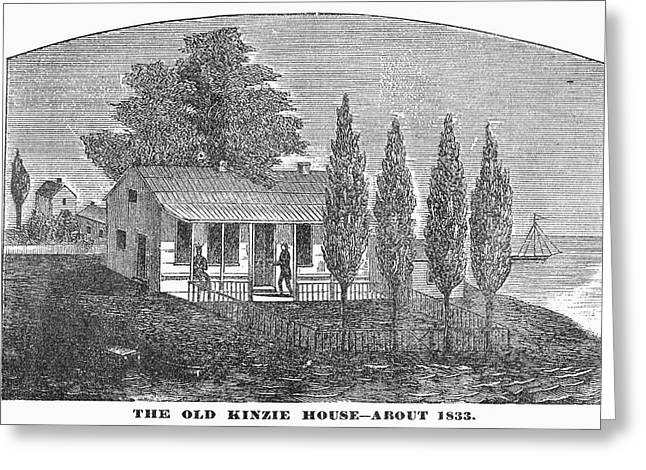 Chicago Old House, 1833 Greeting Card by Granger