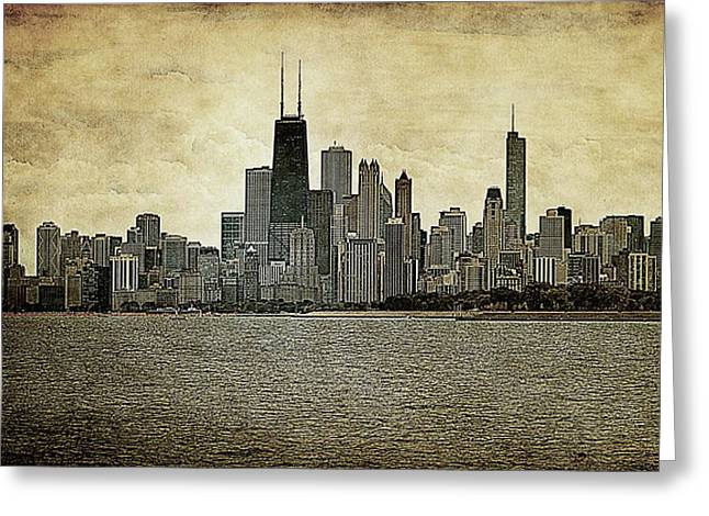 Chicago On Canvas Greeting Card