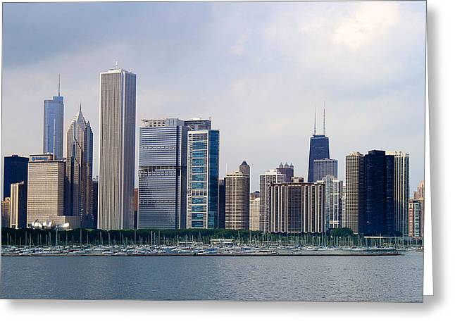 Chicago Panorama Greeting Card by Milena Ilieva
