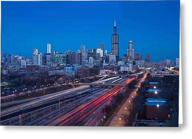 Chicago Panorama Greeting Card by Steve Gadomski