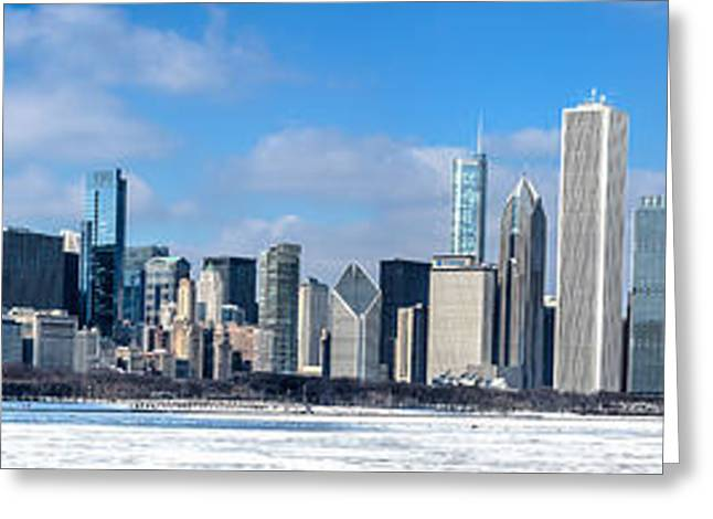Chicago Panoramic Skyline Shot 2-16-14 Greeting Card by Michael  Bennett