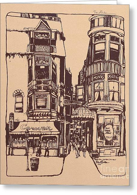 Chicago. Pipers Alley On Wells Street Greeting Card