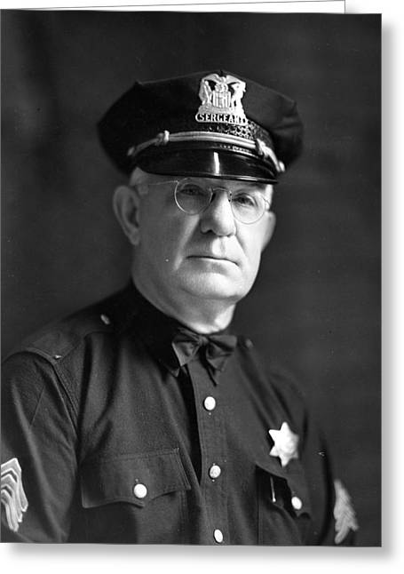 Chicago Police Sargent Greeting Card by Retro Images Archive