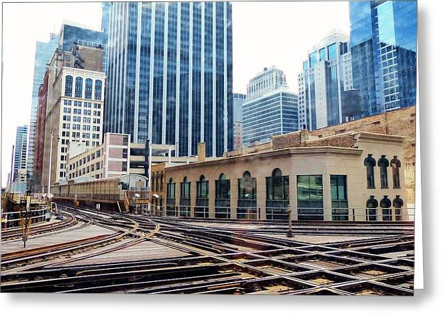 Chicago Rails Greeting Card