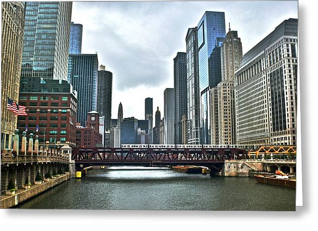 Chicago River And City Greeting Card