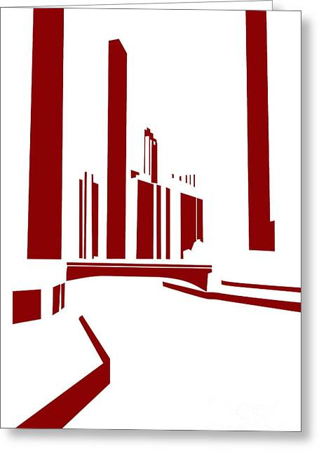 Chicago River Greeting Card by Spencer McNeil