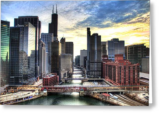 Chicago River Greeting Card by Tammy Wetzel