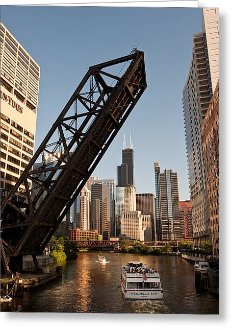 Chicago River Traffic Greeting Card by Steve Gadomski