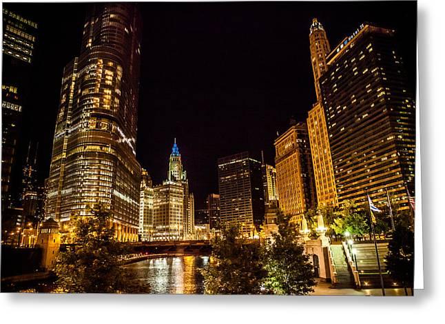 Chicago Riverwalk Greeting Card by Melinda Ledsome