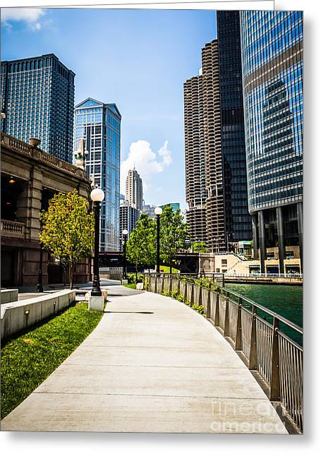Chicago Riverwalk Picture Greeting Card by Paul Velgos