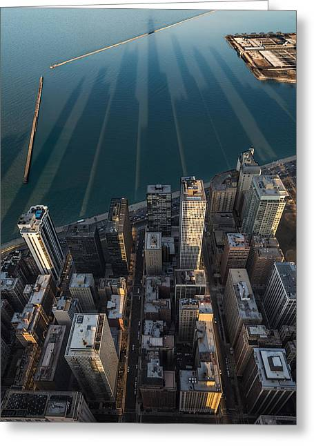 Chicago Shadows Greeting Card