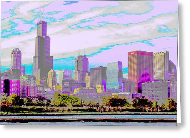 Chicago Skyline 2014 Greeting Card