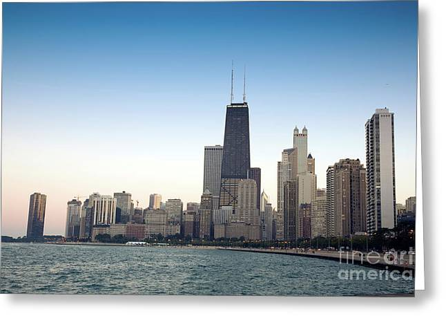 Chicago Skyline And Lake Greeting Card