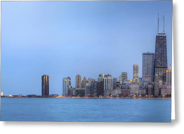 Greeting Card featuring the photograph Chicago Skyline And Navy Pier by Shawn Everhart