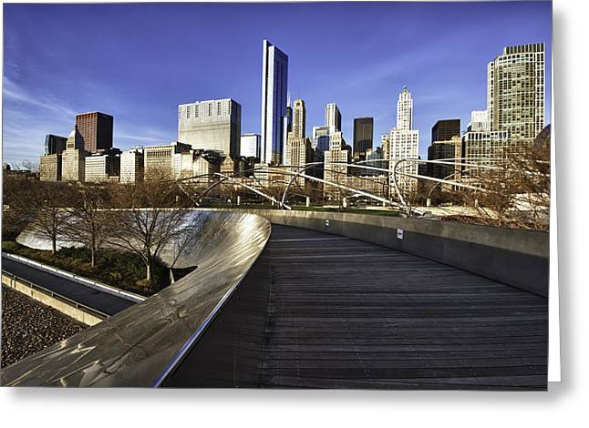 Chicago Skyline At Sunrise Greeting Card by Sebastian Musial