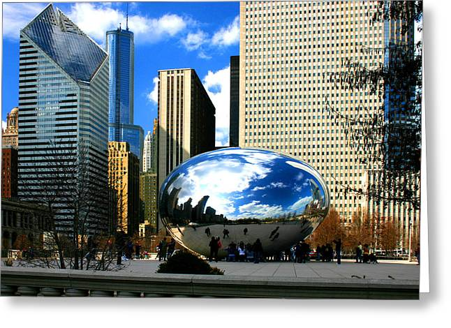 Chicago Skyline Bean Greeting Card