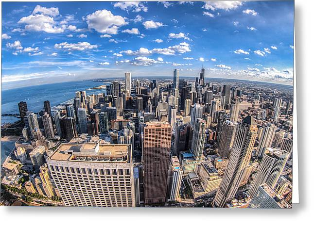 Chicago Skyline Greeting Card by Chris Austin