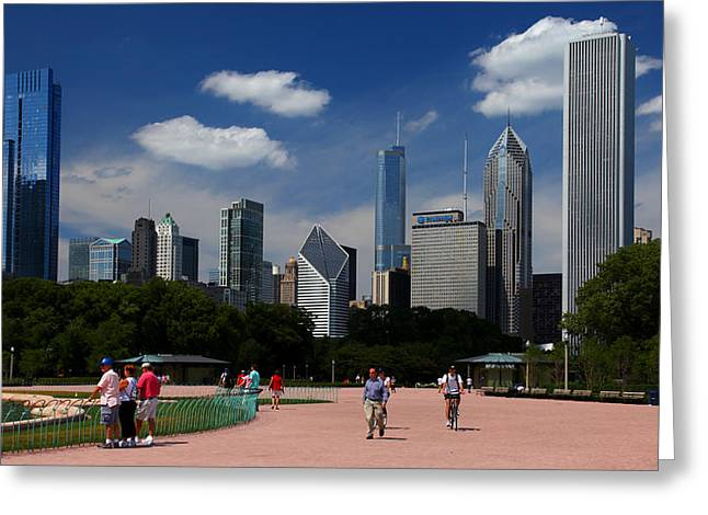 Chicago Skyline Grant Park Greeting Card