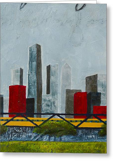 Chicago Skyline II Greeting Card