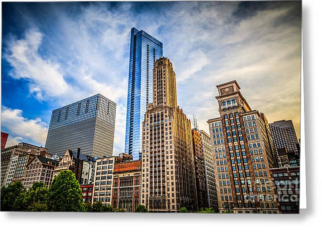 Chicago Skyline Legacy At Millenium Park Greeting Card