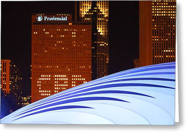 Chicago Skyline Orb Greeting Card