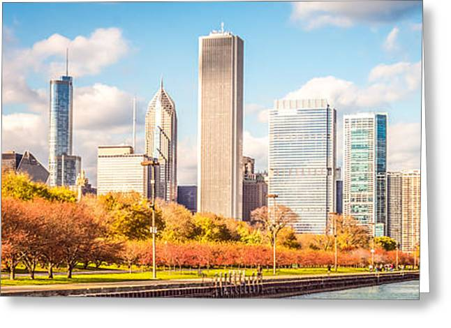 Chicago Skyline Panorama Photo Greeting Card