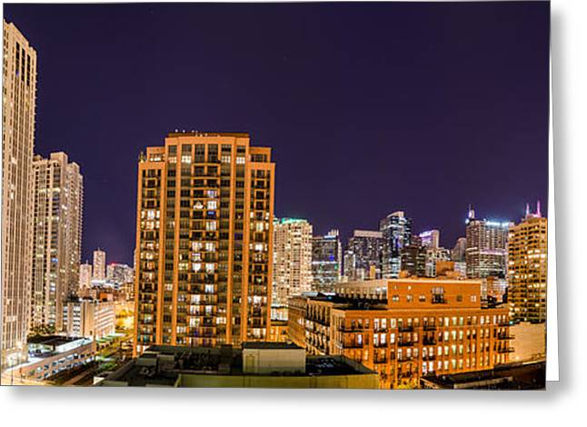 Chicago Skyline Photography October 2014 Greeting Card by Michael  Bennett